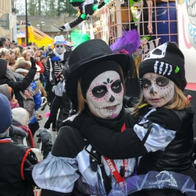 Karneval in Kelmis Mutter und Tochter