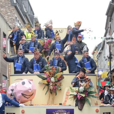 Karneval in Kelmis Karnevalswagen Küsch