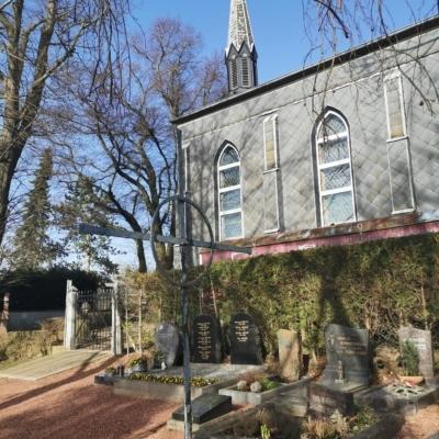 Der Friedhof an der Evangelischen Kirche