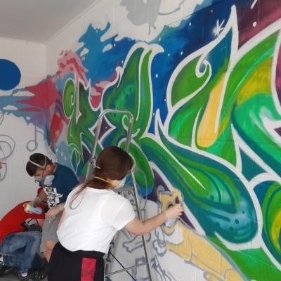Jugend und Animation Kelmis Graffiti Projekt