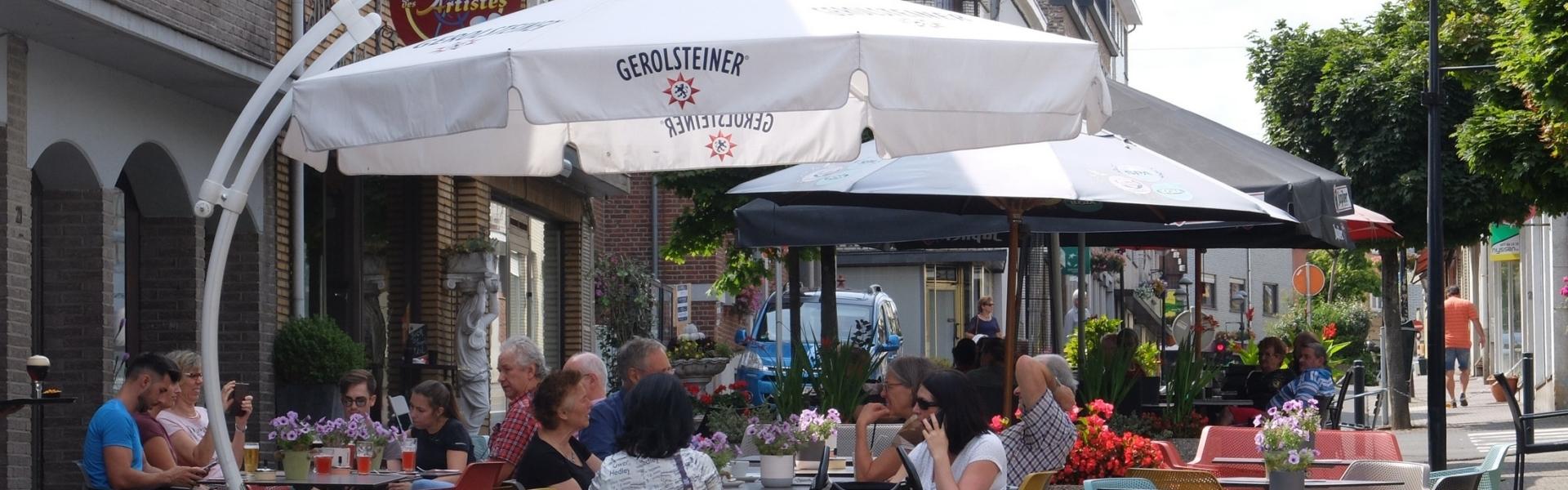 Eine Terrasse in der Kelmiser Kirchstraße
