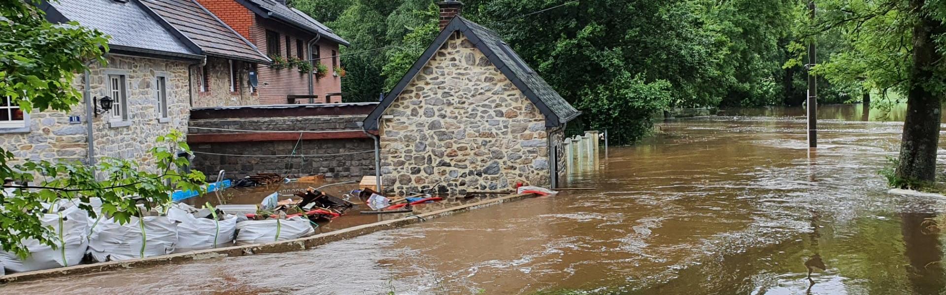 Hochwasser an der Rochuskapelle