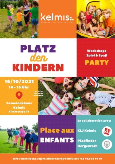 Samedi, 16 octobre : « Place aux enfants » à la maison communale